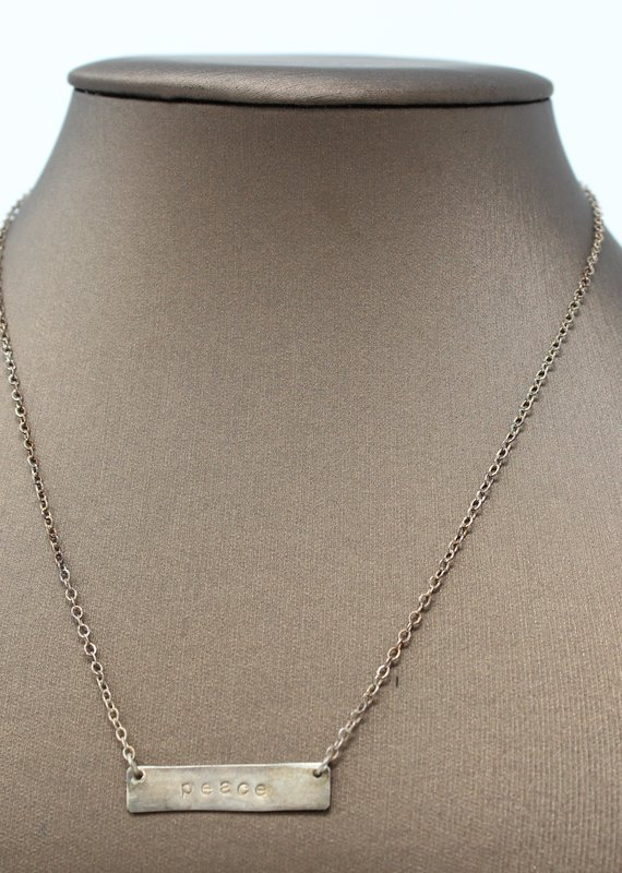 Peace Gold Necklace - Holly Mills N27