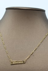 Blessed Gold Necklace - Holly Mills N27