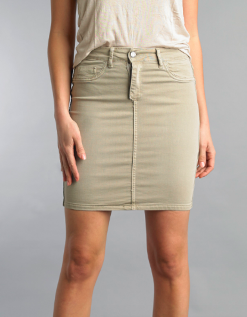Tempo Paris Floral/ Khaki Reversible Skirt