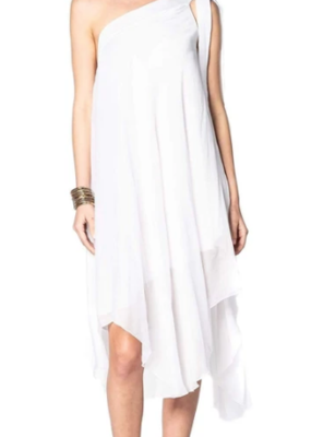 Sofia Athena Dress White