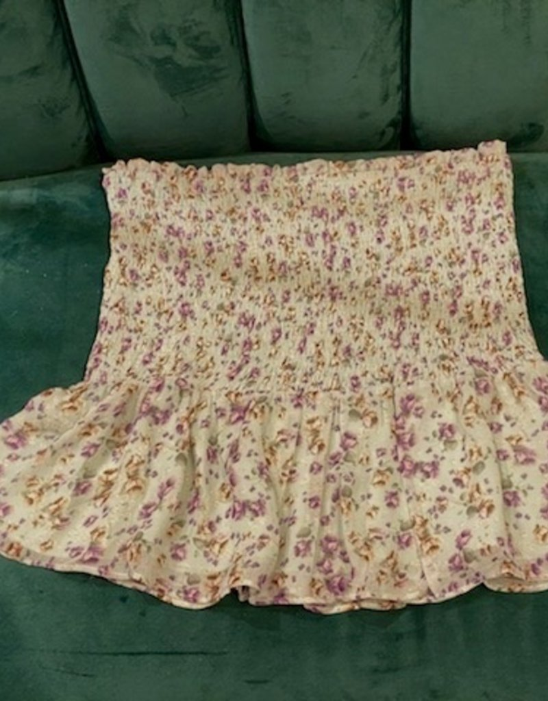 Storia Storia  Floral Smocked Mini Skirt