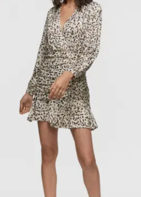 Greylin Greylin Tamara Leopard Print Mini Dress Small