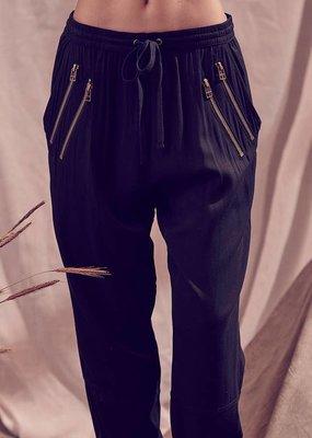 Storia Monochromatic Drawstring Waist Jogger Pants