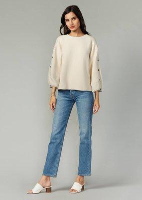 Greylin Greylin Becka Button Sleeve Modal Knit Top