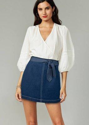 Greylin Bonnie Contrast Stitch  Denim Skirt