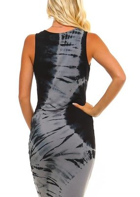 Urban X Two Tone Tie Dye Bodycon Mini