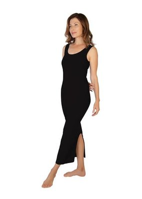 Skinny Tees Black Maxi Dress