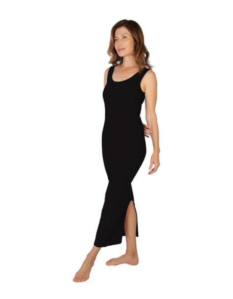 Skinny Tees Black Maxi Dress