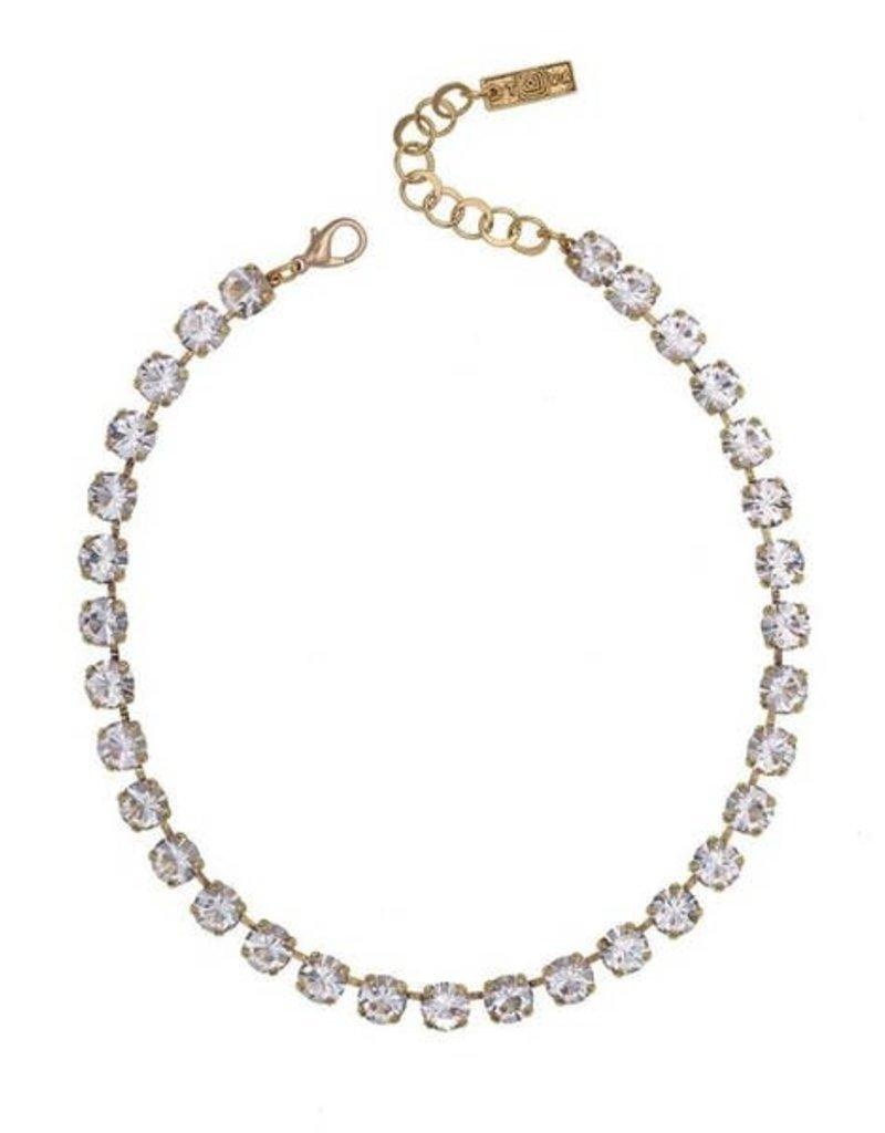TOVA Multi Color Crystal Choker Necklace