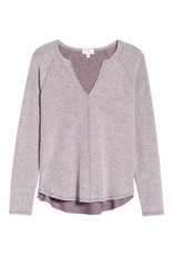 Socialite Cora Cozy Notch Neck Raglan