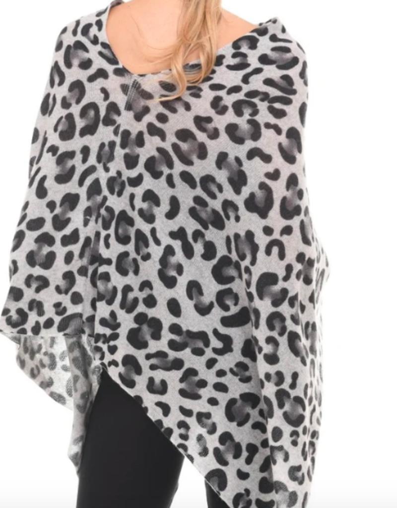 INCashmere In Cashmere Dip Dye Leopard Topper