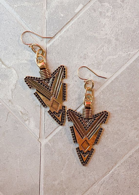 diana warner Courtney Arrow Earring