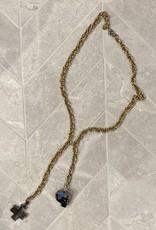 diana warner One-Of-A-Kind Skull Cross  Necklace