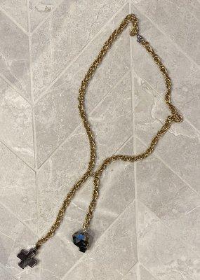 diana warner Skull Cross  Necklace