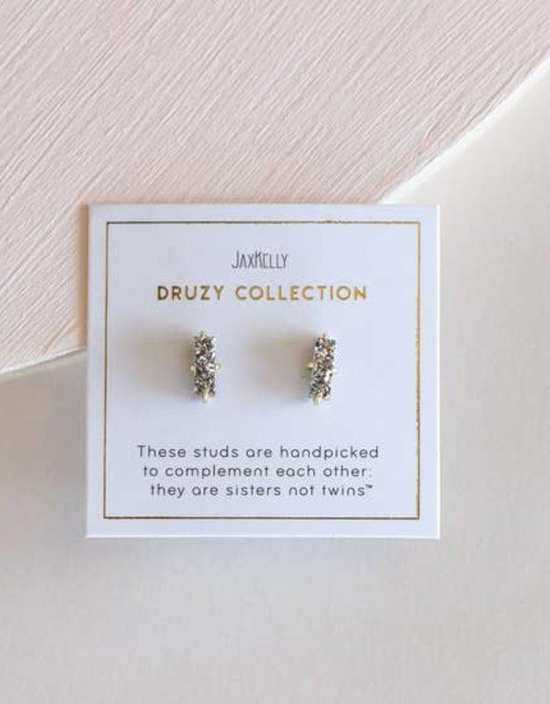Indigo Faire Druzy Bar Stud Earring