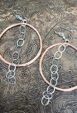 diana warner Diana Warner-Diana Large Hoop w/ Chain