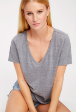 Socialite Waterford V-Neck Tee Heather Grey