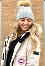 Pretty Simple Soft Angora Cable Knit Beanie