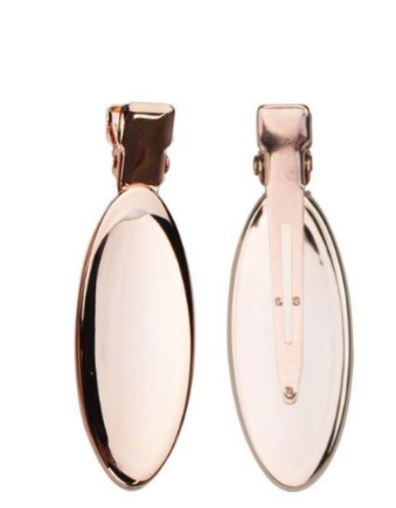 Kitsch Oval Rose Gold Creaseless Clips