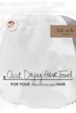 Kitsch Microfiber HairTowel- White
