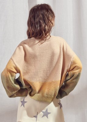 Storia Color Block Pocket Knit Sweater