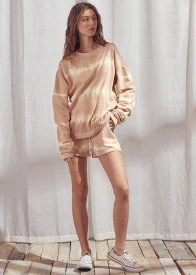Storia Tie Dye Pullover Sweater Dusty Peach