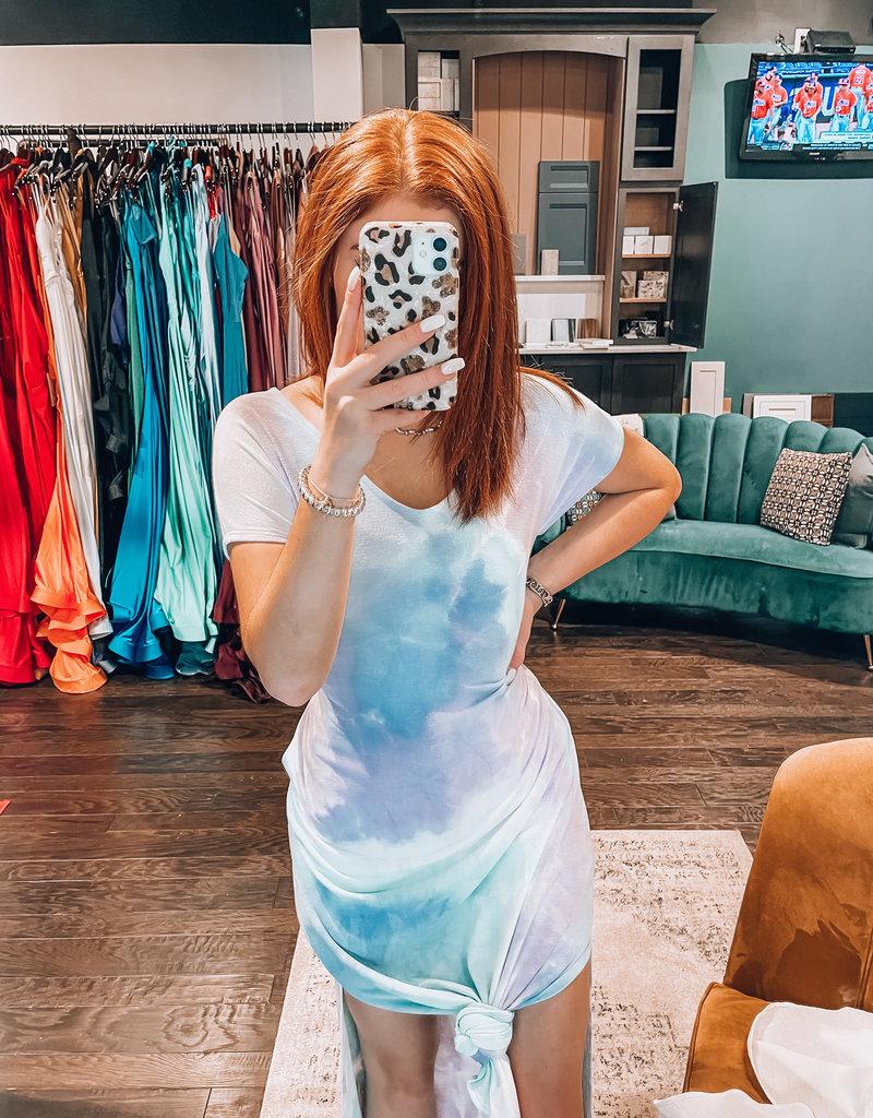 Bluivy Tie Dye Maxi Jersey Dress