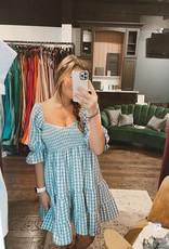 ePretty Blue Gingham Dress