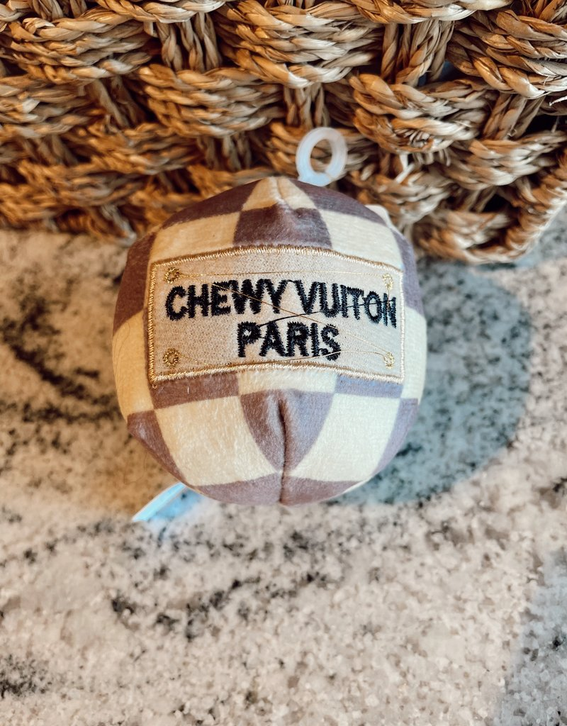 Haute Diggity Dog Checker Chewy Vuiton Ball Small