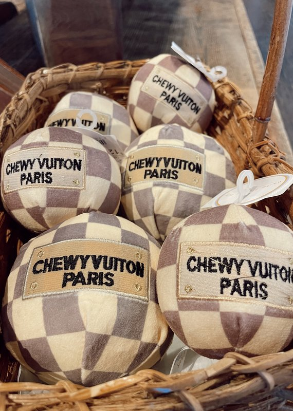 Haute Diggity Dog Checker Chewy Vuiton Ball Large