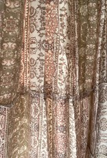 Fate Aztec Print Hi-Low Maxi Dress Olive/Multi