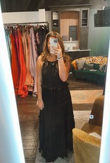 Sweet Lovely Smocked Halter Dress Black