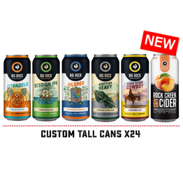 Big Rock Brewery Tall Can Variety - 24 Can Flat