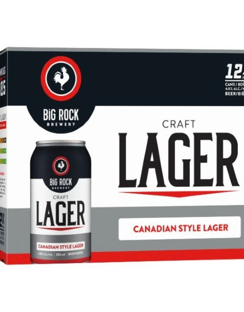 Big Rock Brewery Craft Lager 12 Can (BC)