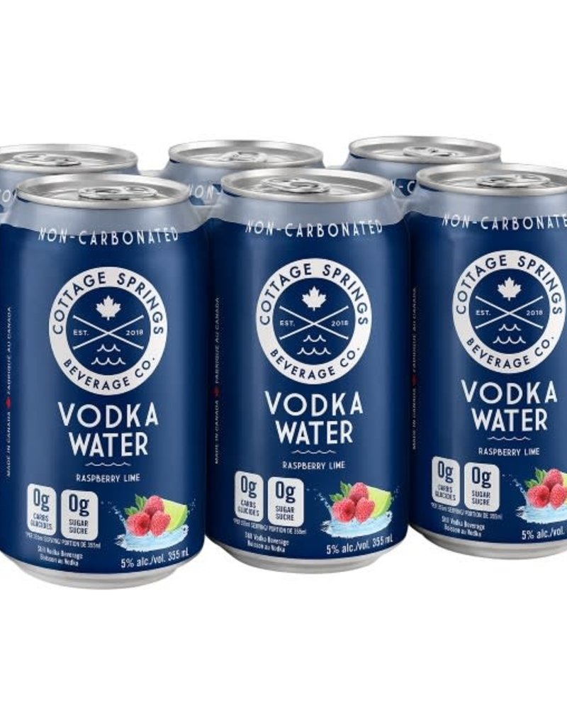 Cottage Springs Raspberry Lime Vodka Water - 6-Can