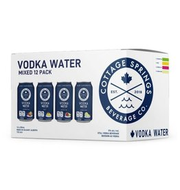 Cottage Springs Vodka Water Variety 12 Can