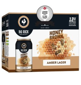 Big Rock Brewery Honey Brown 12 Can
