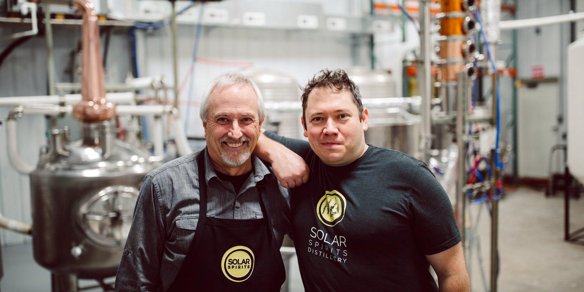 Master Distiller Jim Batdorf, Ph.D (left) and Production Manager Dan Watt (right)