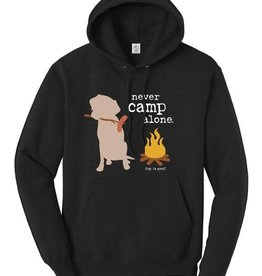 Dog is Good Dog is Good Clothing - Medium Hoodie Never Camp Alone