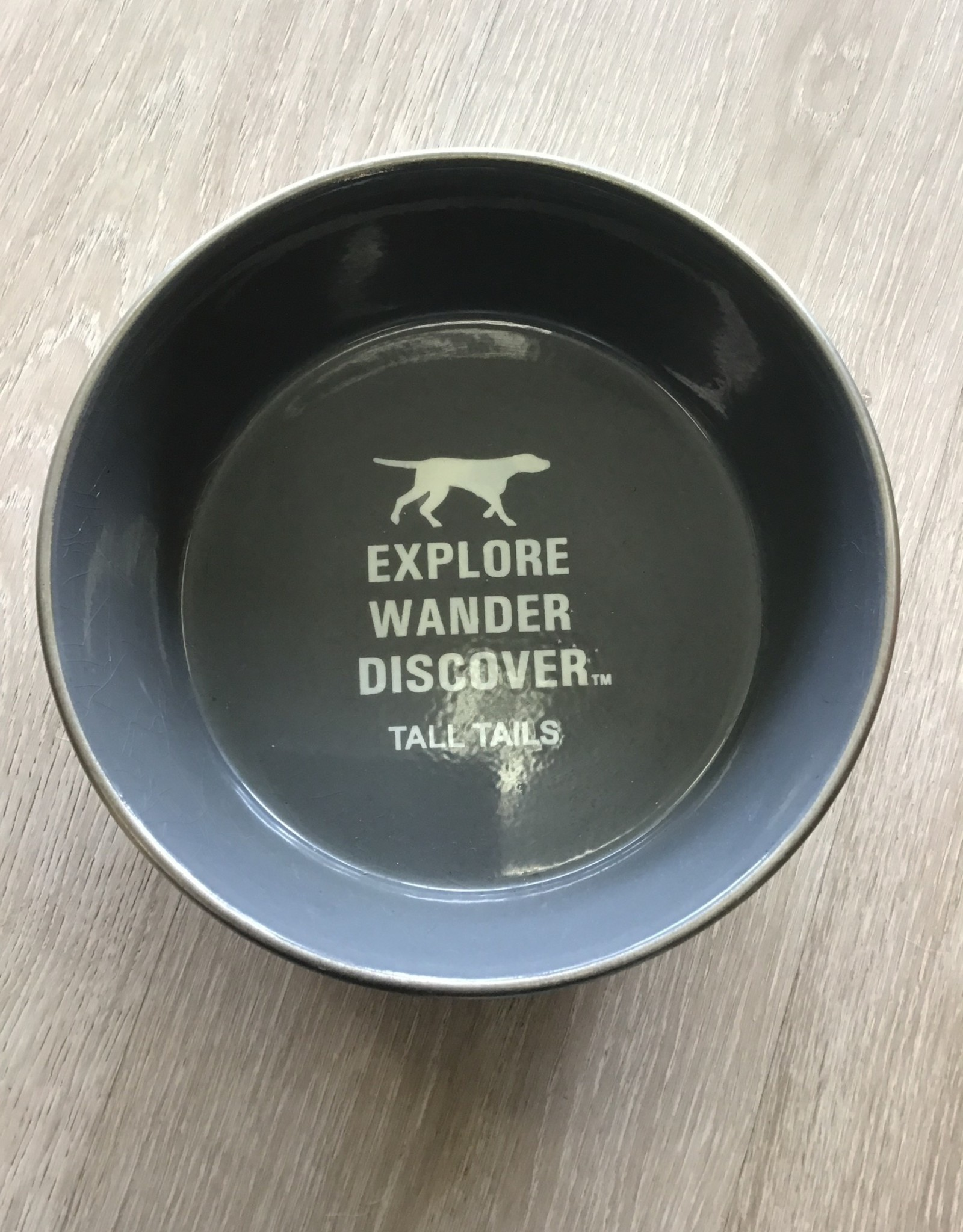 Tall Tails Grey Metal 6 Cup Dog Bowl