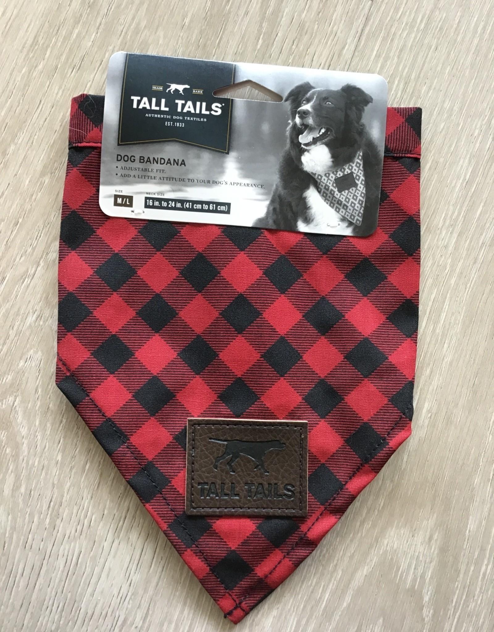 Tall Tails Bandana Red Medium/Large