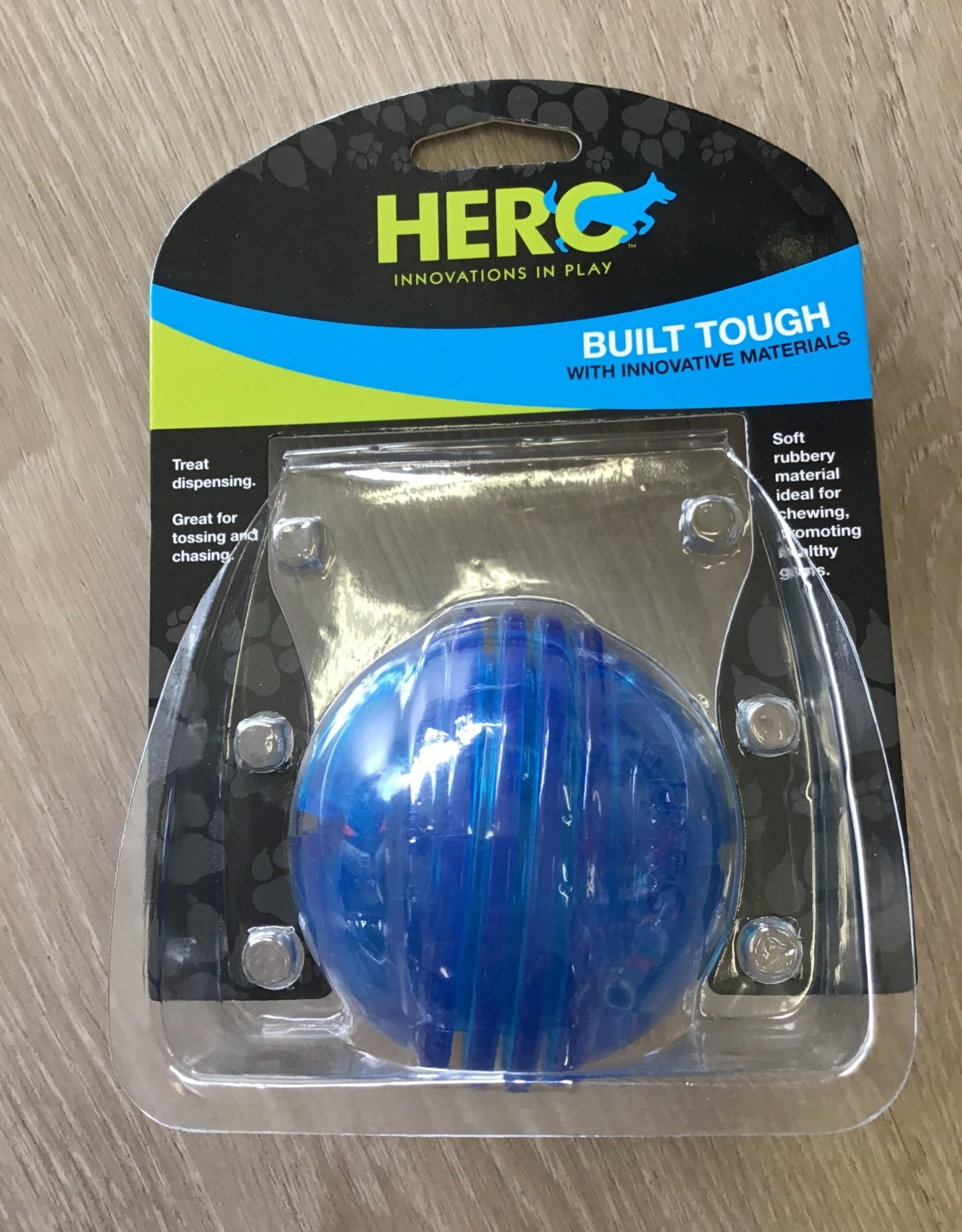 Hero Ball Treat Dispenser Small Blue