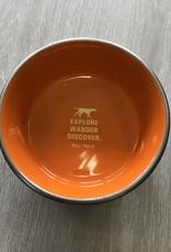 Tall Tails Orange Metal 3 cup Dog Bowl