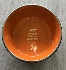 Tall Tails Orange Metal 3 cup Dog Bowl