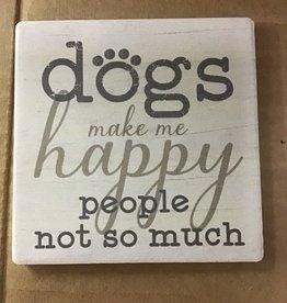 Dog Speak accessories  - coaster dogs make me happy