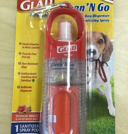 Glad Clean N Go Waste bag dispenser & Hand Sanitizer