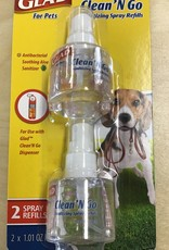 Glad Clean N Go Sanitizer Spray Refills 2 pack