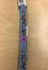 "Lupine Lupine Leash 1 "" Leash - 4 ft Purp Pansies"