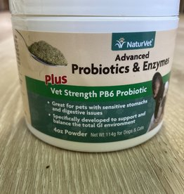 Naturvet NaturVet  - Advanced Powder Probiotics 4oz