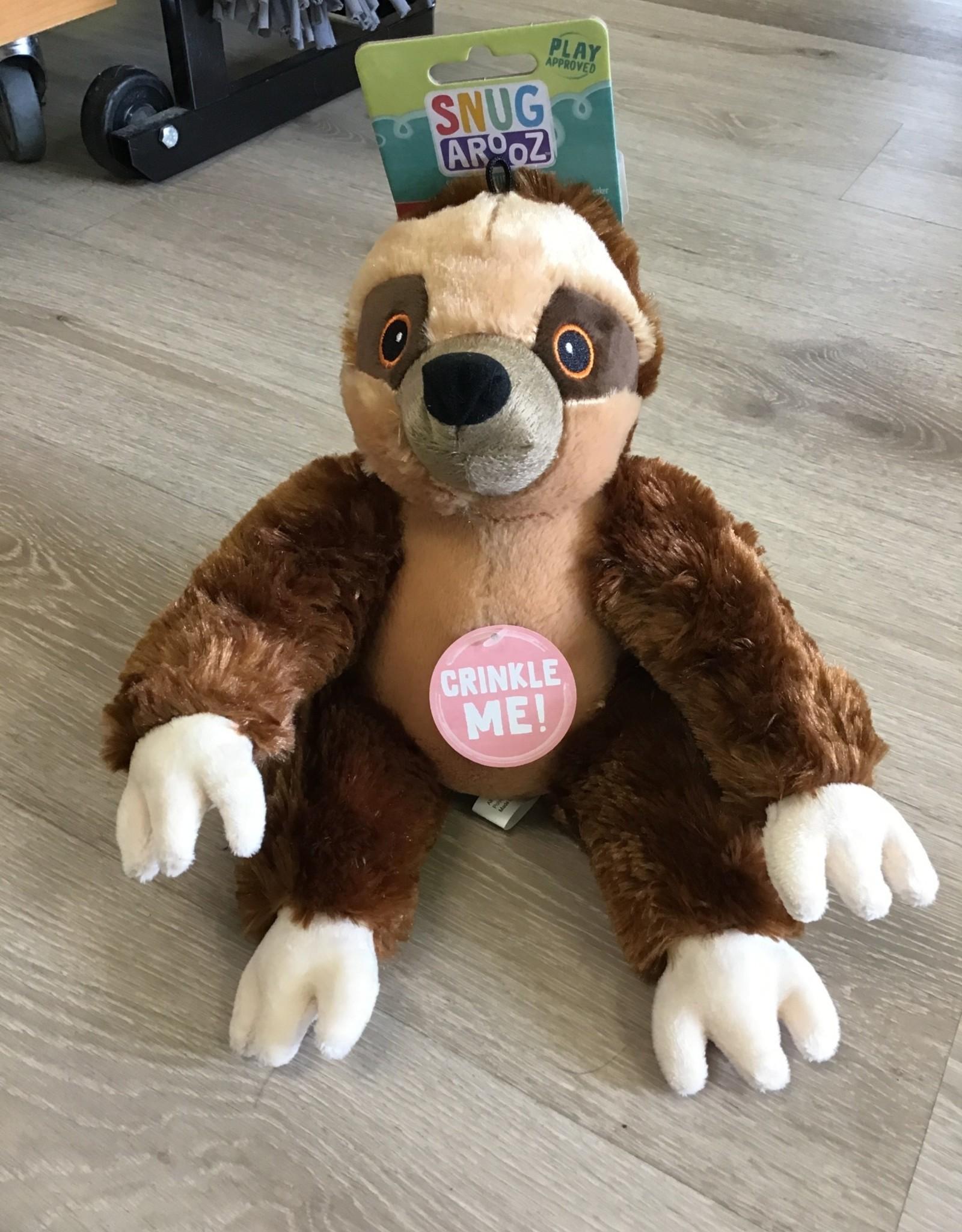 """Snugarooz Sasha Sloth Dog Toy 11"""""""